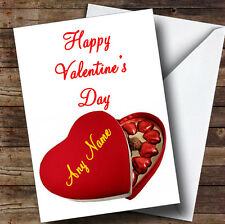 Heart Box Of Chocolates Romantic Personalised Valentine's Greetings Card