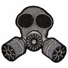 GAS MASK Patch biker jacket patches chemicals novelty iron on heat sew doomsday