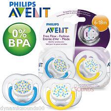 Philips AVENT SCF180/24 Zeitgenössisch Freifluss Soothers6 - 18m 2er Pack Blau/