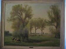 Carl Weisgerber, Ahrweiler 1891-1968 Düsseldorf, paesaggio con mucche