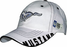 Ford Mustang cap, original bajo licencia +, calidad 1a, US-Import, Pony, blanco, Top