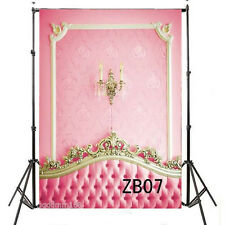 5x7FT Thin Vinyl Photography Backdrop Pink Bed Head Board Indoor Background ZB07