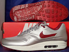 Nike Air Max 1 Hyperfuse QS Night Track Silver Red Hyp SZ 11 ( 633087-006 )