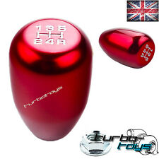 RED 5 SPEED BILLET ALUMINIUM GEAR KNOB Fits HONDA CIVIC INTEGRA CRX  M10x1.5