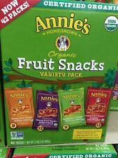 Annies Homegrown Organic Fruit Snacks Variety Pack 42 Pouches Gluten Free