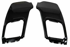 Pair Rear bumper insert tow eye panels in Black for Range Rover Evoque dynamic