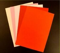 50 SHEET A4 CARD STOCK ASSORTED REDS COLOUR PACK 160gms ART CRAFT CARDS 04