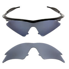 Black  Iridium Polarized Replacement lenses for-Oakley M frame Sweep/ Nose Clip