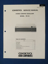 ONKYO PE-33 EQUALIZER SERVICE MANUAL ORIGINAL FACTORY ISSUE GOOD CONDITION