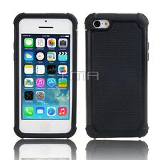 Impact Rugged Hybrid Dual Layer Shock Proof Case Cover For iPhone 5C - Black