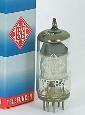 "NOS Telefunken EF86 DIAMOND ""SILVER-CAGE"" West German Single Tube Red-Tip 100%mA"