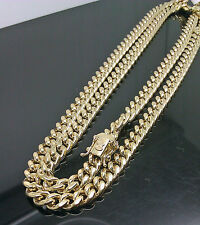 "10K Yellow Gold Men's 6mm Miami Cuban Chain With Box Lock 30"" Long"