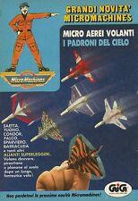 X4078 Micromachines - Micro aerei volanti - GIG - Pubblicità 1990 - Advertising