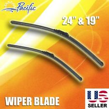 "Windshield Wiper Blades J-HOOK OEM QUALITY 24"" & 19"" INCH Bracketless"