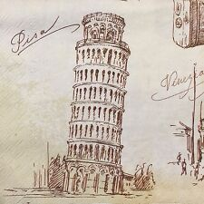 20 paper napkins for decoupage scrapbooking collection Tower of Pisa Paris City