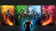 Poster 42x24 cm League Of Legends Udyr Guardian De Los Espiritus Spirit Guard