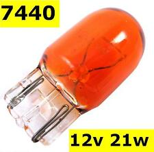 Bulb Amber T20 21W orange indicator 7440 wedge 12v lamp light car flasher new