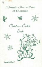 Columbia Home Car of Sherman 1995 Christmas Cookie Book Cookbook Recipes