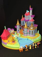 Polly pocket �� 1997 Disneys Belle Beauty and the Beast Castle Schöne Biest
