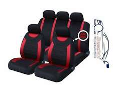 Oxford Red 9 Piece Full Set Of Seat Covers For Mitsubishi Colt Plus