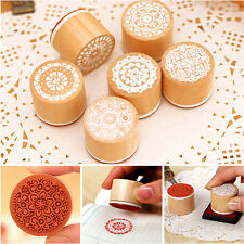 Delicate Lace Doily Round Wooden Rubber Stamps For Card Making & Scrapbooking