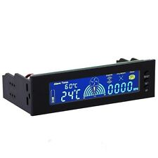 """DIY computer 5.25"""" LCD Front Panel Cooling Temperature PC Display Fan Controller"""
