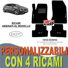 TAPPETINI AUTO SU MISURA PER MERCEDES CLASSE A W176 IN MOQUETTE + 4 RICAMI EASY