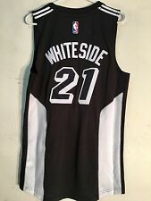 Adidas Swingman 2015-16 NBA Jersey Miami Heat Hassan Whiteside Black Fashion  XL