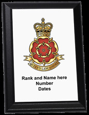 Personalised Wall Plaque - The Queen's Lancashire Regiment, QLR