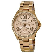 Fossil Women's AM4483 Cecile Rose Gold-Tone Multifuntion Watch with Crystals