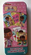 Disney Junior DOC McStuffins 2 Decks of Playing Cards In Tin Game - Cardinal