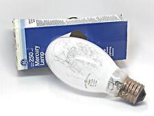 250 Watt Mercury Lamp Light Bulb GE USA Deluxe White HR250DX37 H37 Ballast