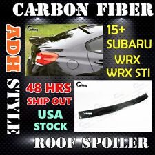 *CARKING* 2015+ CARBON FIBER for SUBARU WRX SEDAN ADH WINDOW ROOF SPOILER WING