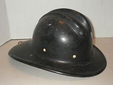 Vintage Black Fiberglass BULLARD Hard Boiled Fire Fighter Helmet