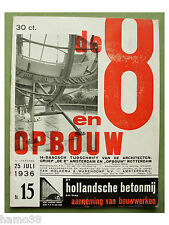 8 & Opbouw 1936-15, Paul Schuitema; Gispen on chairs, L.H. De Koninck