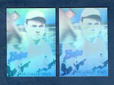 #3 BABE RUTH, The Called Shot 3-D holographic PROTOTYPE & Actual Card (1992 GEI)