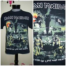 """Mens """" Iron Maiden """" A Matter Of Life And Death Graphic T shirt / Top S/M"""
