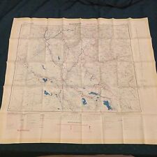 1951 Fabric (Silk/Rayon) Map of Baghdad & Basra Double Sided