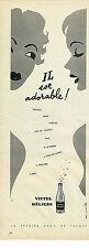 PUBLICITE ADVERTISING  1958   VITTEL DELICES  soda