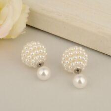 Doppelseitige Kugel Ohrringe Perle Doppel Earring Ohrstecker