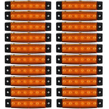 20x 6 LED Side Marker Indicators Lights Lamp 12V Lorries Truck Trailer Clearance