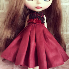 """Takara 12"""" Blythe Doll Blood Marry Series Outfits-Red Dress"""