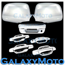 05-12 Chevy Colorado+Canyon Chrome Mirror+4 Door+NO PSG KH+Tailgate Handle Cover