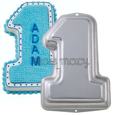 LARGE NUMBER 1 ONE BABY BIRTHDAY CAKE TINS PAN NOVELTY DECORATING BAKING MOULD