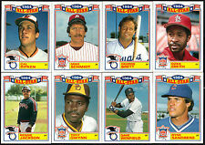 """1985 TOPPS COMMEMORATIVE """"1984 ALL-STAR GAME"""" GLOSSY INSERT BASEBALL CARD SET"""
