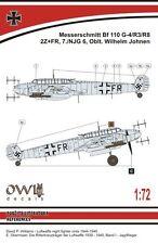 Owl 1/72 Messerschmitt Bf-110 G-4 (W. Johnen) # S7215
