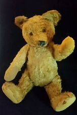 "Antique Steiff Teddy Bear 18"" Golden Mohair Early 1900s Hunchback German"