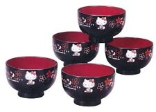 SANRIO HELLO KITTY - BOWLS for Miso Soup, Rice - SET of 5 -  JAPAN