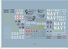 1/48 1/72 Scale US NAVY YAK-38 G-91 A-4 Aircraft Model Kit Water Slide Decal