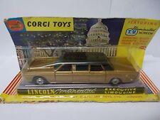 corgi  262 lincoln contintal limousine boxed vintage 1967